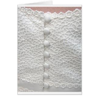 Robe de mariage blanche - personnalisable carte de vœux