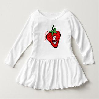 Robe de *Ruffle de fraise