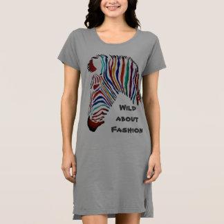 Robe de T-shirt de zèbre de couleur