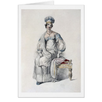 Robe d'opéra, plat de mode de Reposi d'Ackermann Carte De Vœux