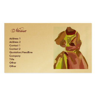 "Robe d'or de Brown ""de couturier"" Carte De Visite Standard"