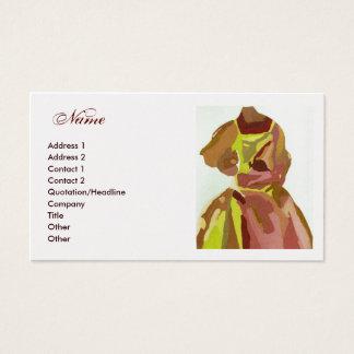 "Robe d'or de Brown ""de couturier"" Cartes De Visite"