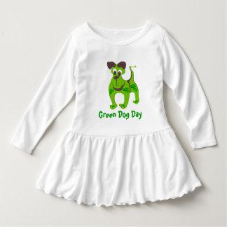 Robe Manches Longues Chien vert - - customisé