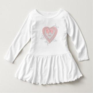 Robe Manches Longues Coeur rose avec la personnaliser d'image d'arc
