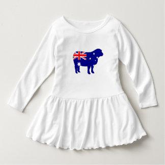 Robe Manches Longues Drapeau australien - mouton