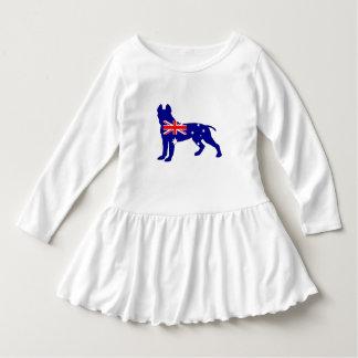 Robe Manches Longues Drapeau australien - pitbull Terrier