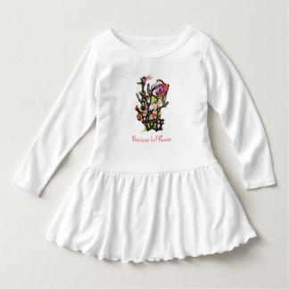 Robe précieuse d'enfant en bas âge de fleur de Lil