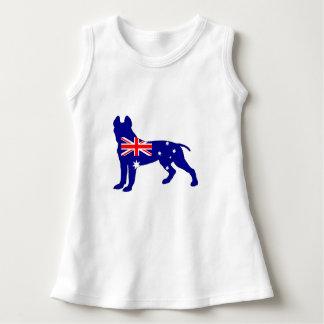 Robe Sans Manche Drapeau australien - pitbull Terrier