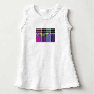 Robe Sans Manche HAMbyWG - logo coloré sur le plaid violet