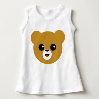 Robe Sans Manche Visage heureux mignon d'ours
