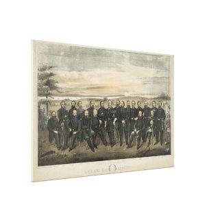 Robert E. Lee & zijn Verbonden Algemeen van de Canvas Afdruk