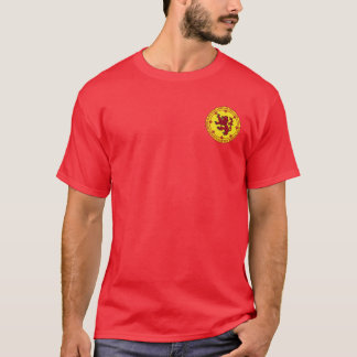 Robert la chemise de joint de rouge et d'or de t-shirt