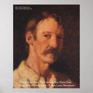 Robert Lewis Stevenson Quote Poster