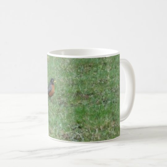 Robin sur la pelouse mug