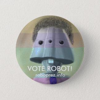 Robot de vote ! Bouton élégant Badge Rond 5 Cm
