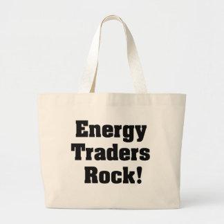 Roche de commerçants d'énergie ! grand sac