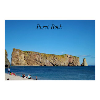 Roche de Percé dans le Golfe du St Lawrence Poster