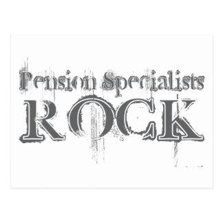 Roche de spécialistes en pension carte postale