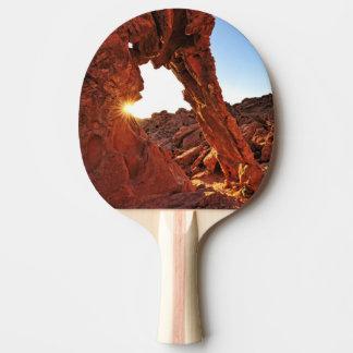 Roche d'éléphant dans la vallée du feu raquette de ping pong