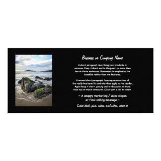 Roches de Bantham vers l'île de Burgh Carte Double Customisable