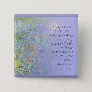 Roches de jardin de prière de sérénité badge carré 5 cm