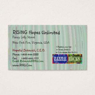 ROCHES de ZAZZLE - motifs verts mous Cartes De Visite