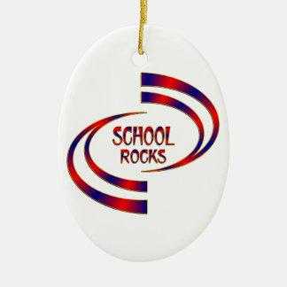 Roches d'école ornement ovale en céramique