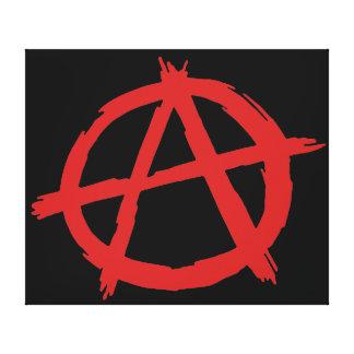 Rode Anarchist een Logo van de Anarchie van het Canvas Afdrukken