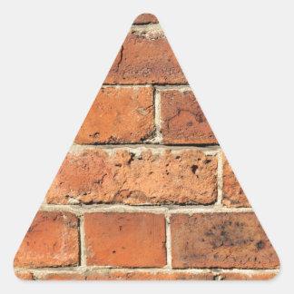 Driehoekige stickers - Rode bakstenen lounge ...
