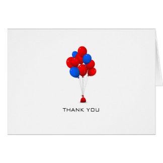 Rode & Blauwe Ballons - dank u nota nemen van Briefkaarten 0
