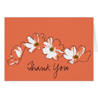 Rode Daisy Chain Thank You Briefkaarten 0
