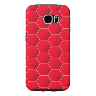 Rode geometrische zeshoek samsung galaxy s6  hoesje