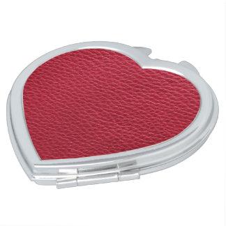 Rode leertextuur makeup spiegeltjes