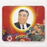 Rode mousepad van Kim Il Sung Muis Matten