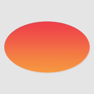 Rode & Oranje Ombre Ovale Sticker