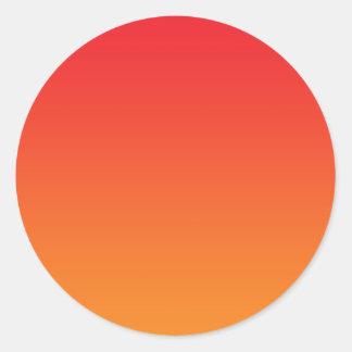 Rode & Oranje Ombre Ronde Stickers