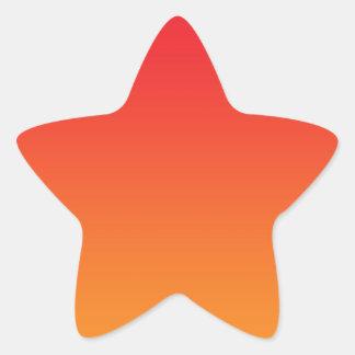Rode & Oranje Ombre Stervormige Sticker