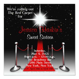 Rode Verjaardag 16 van Hollywood van het Tapijt Uitnodigingen