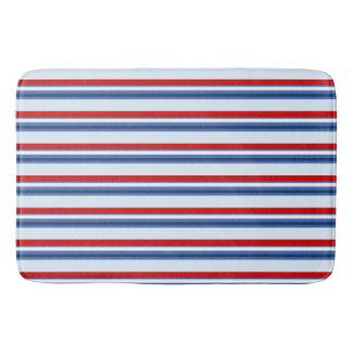 Rode Witte Blauwe Gestreept Badmat