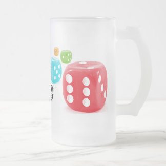 Roi de matrices frosted glass beer mug