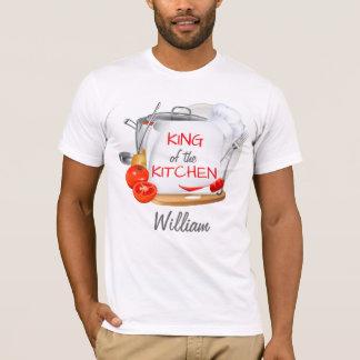 Roi personnalisé de T-shirt de chef de la cuisine