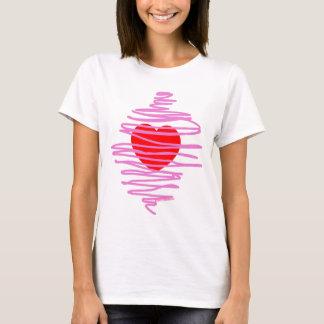 Romance am1 de coupure chaotique de coeur de t-shirt