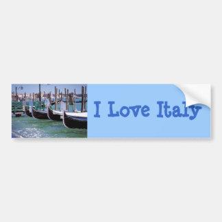 Romance italien de ~ de bateaux de gondole de Veni Autocollant De Voiture