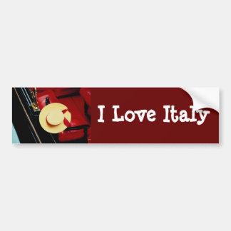 Romance italien de ~ de chapeau de gondoliers de V Autocollant Pour Voiture