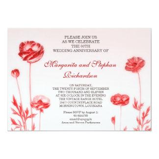 romantische huwelijksverjaardag 12,7x17,8 uitnodiging kaart