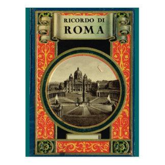 Rome, cadre décoré carte postale
