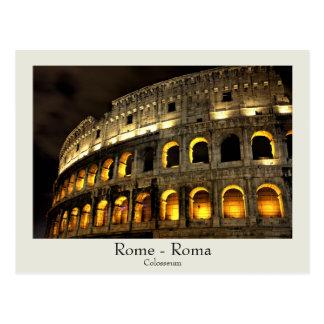 Rome - Colosseum à la carte postale de nuit avec