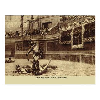 Rome, gladiateurs dans le Colosseum Carte Postale