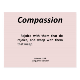 Romeinen 12-15 van het medeleven wens kaarten