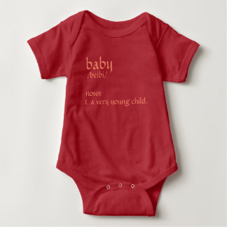 "Romper ""Baby"" rood."